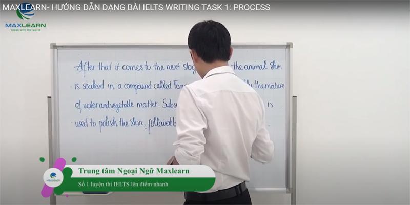 Maxlearn hướng dẫn cách viết dạng IELTS writing task 1: Process